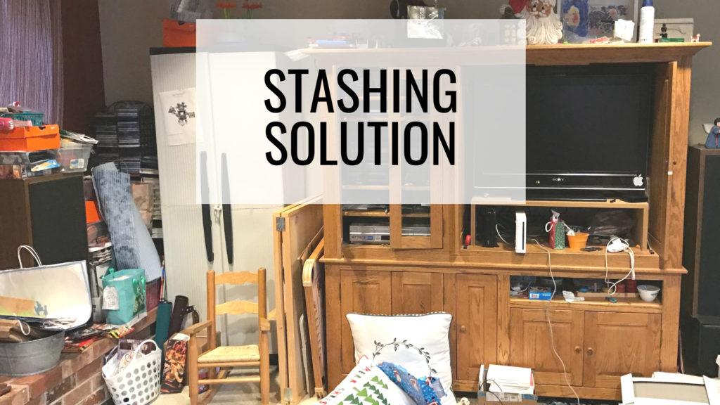 Common Organizing Mistakes - Stashing Solution