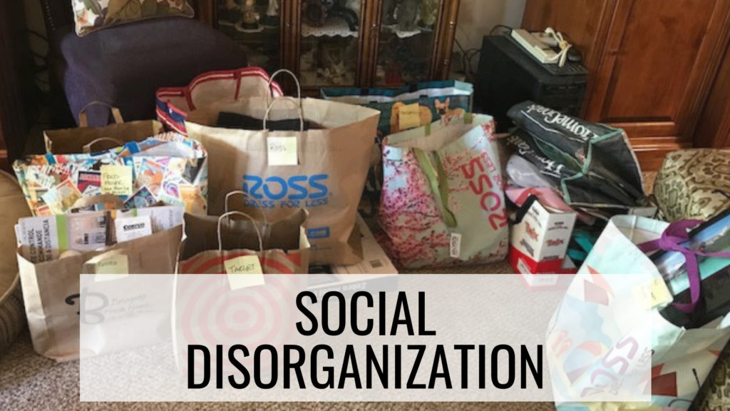 How to Stay Organized - Social Disorganization