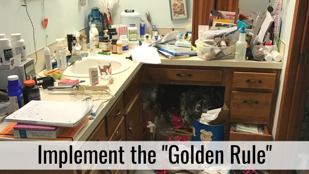 Organize for Holiday Hospitality - Golden Rule