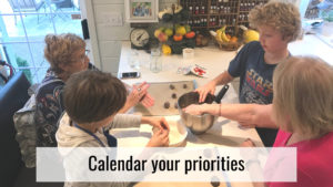 Stress-free holidays - calendar priorities
