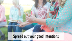 Stress-free holidays - spread out intentions