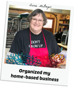 Organized my home-based business testimonial
