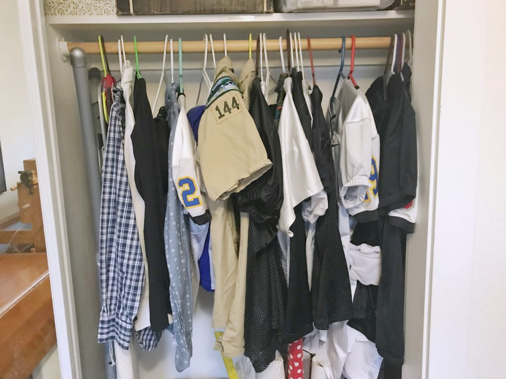 Family Organization Center - Uniform Closet