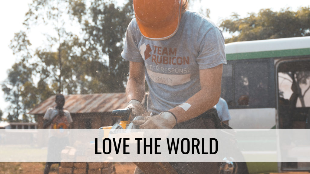 Volunteer helping in disaster - Love the world