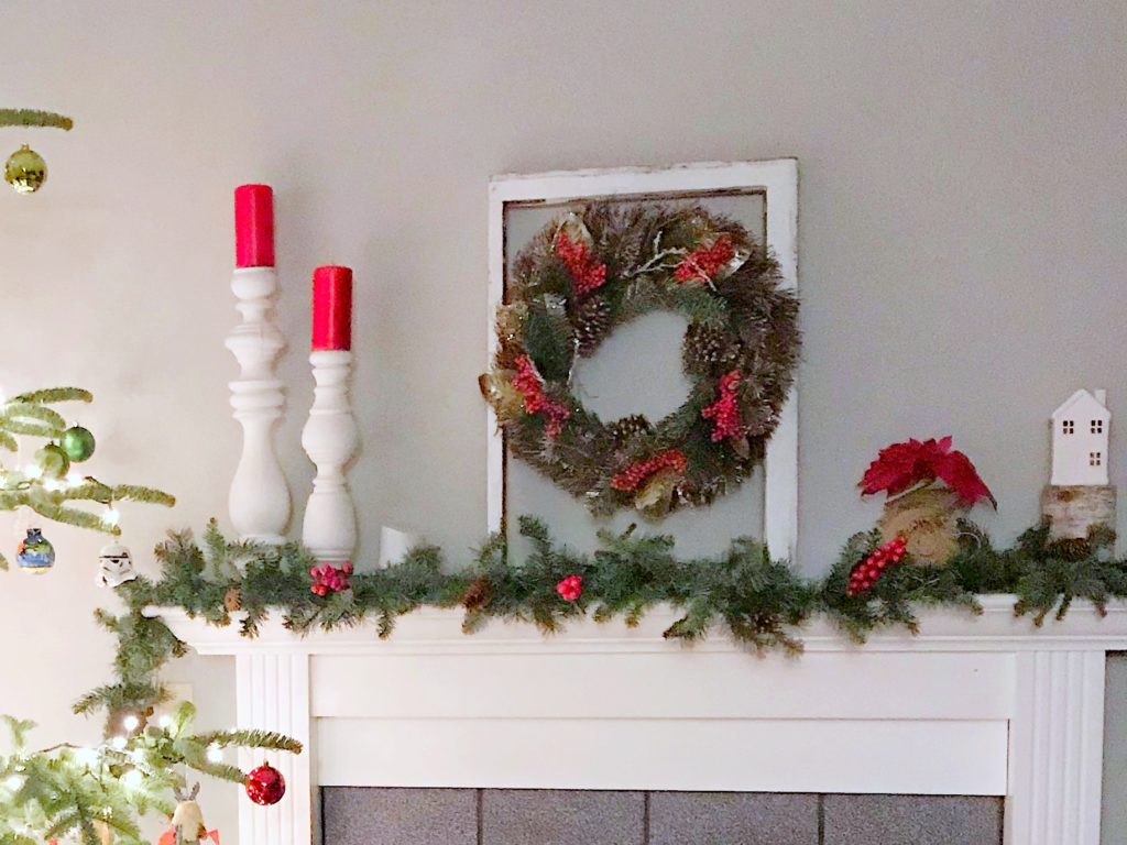 Seasonal Decor Storage - Christmas Mantle