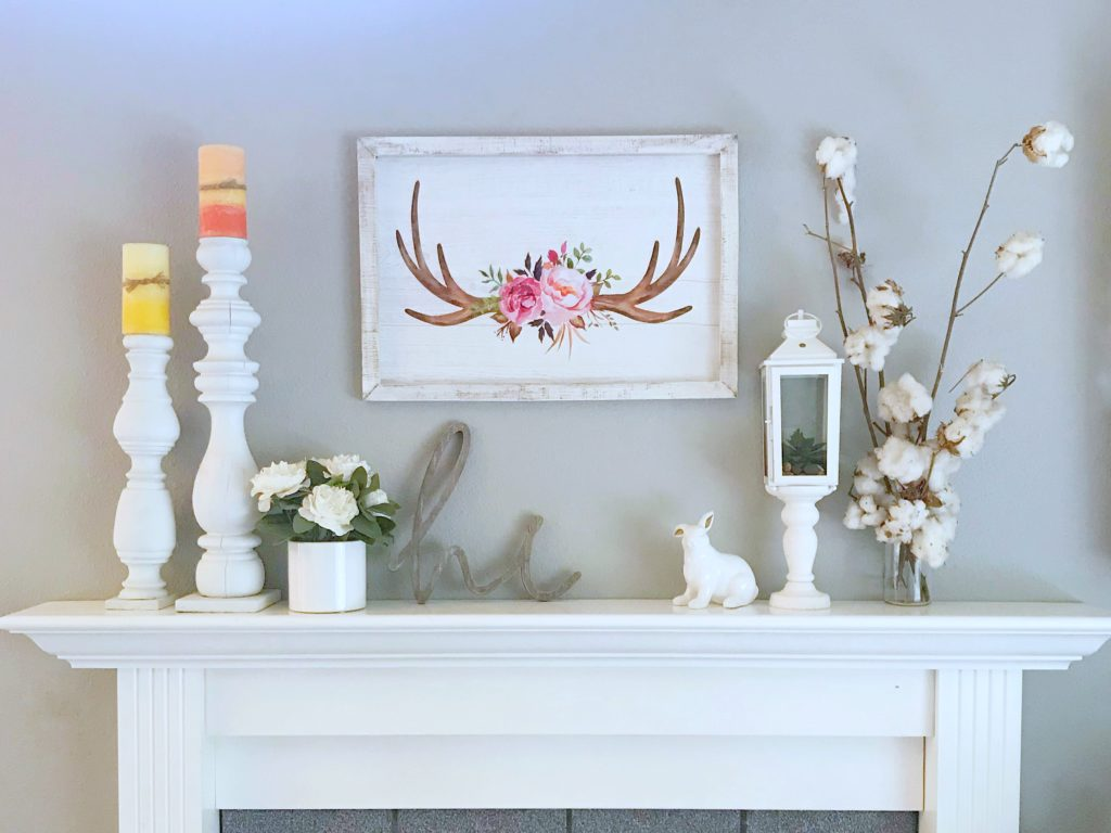 Seasonal Decor Storage - Spring Mantle