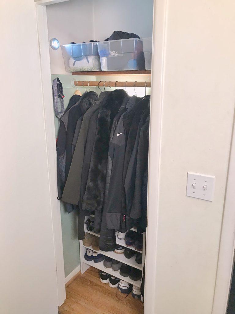 TV Host Master Closet Makeover - Clothes closet after