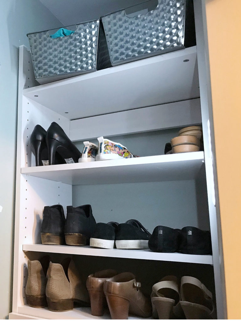 TV Host Master Closet Makeover - Shoe Bar