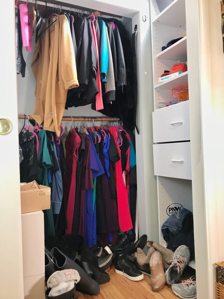 TV Host Master Closet Makeover - Vertical Before