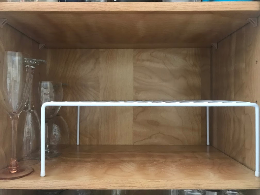 Best Organizing Products - Metal Riser in Cabinet