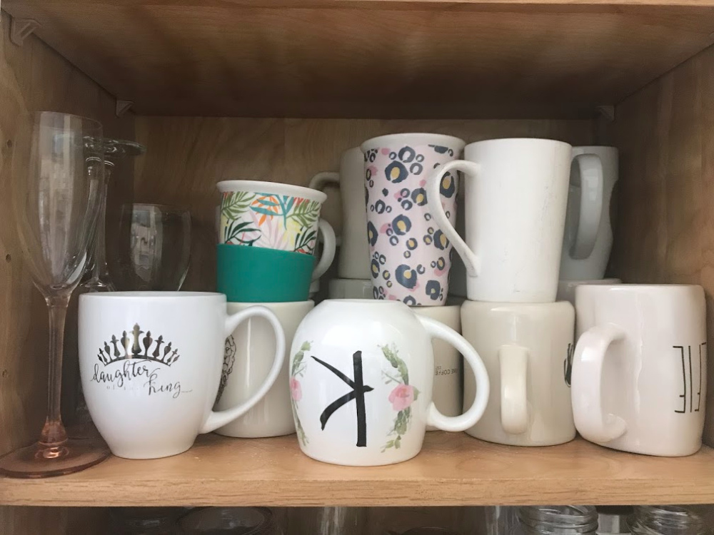 Best Organizing Products - Mugs on Shelf