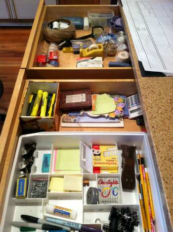 Portland couple organize junk drawer