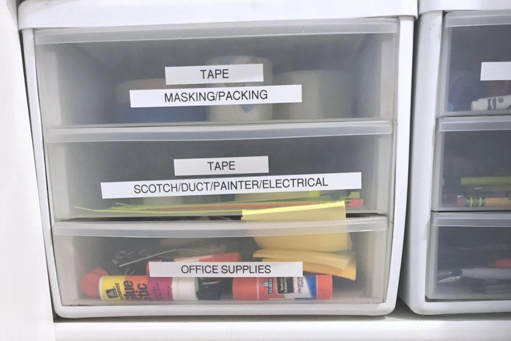 Dejunk Your Junk Drawer - Tape Organizing Drawers