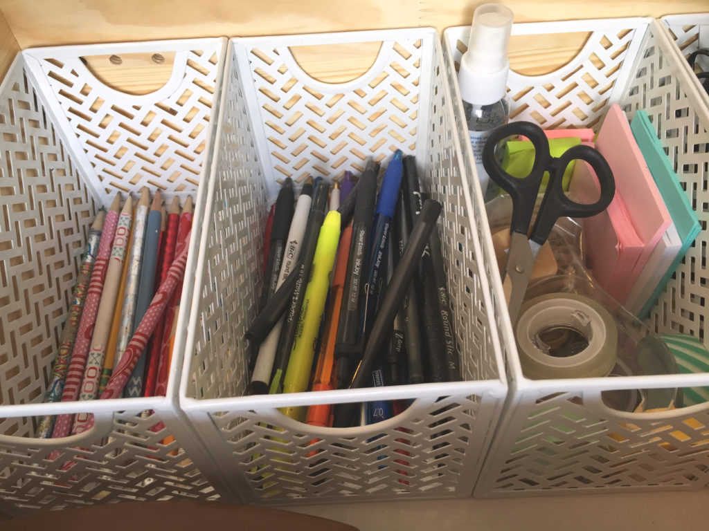Dejunk Your Junk Drawer - Vertical Baskets