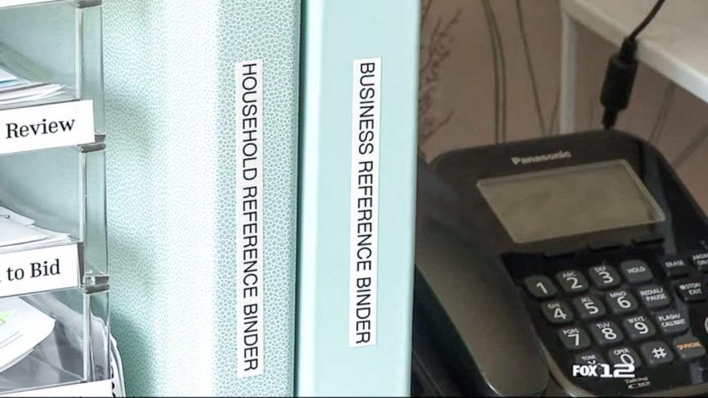 Binder System on Desk