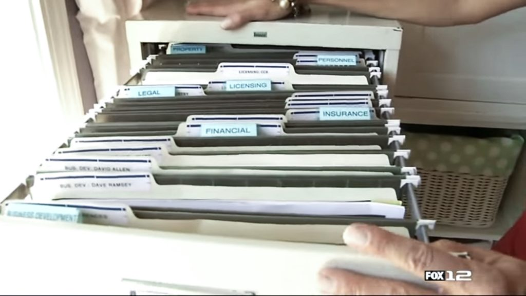 Filing System at home based business