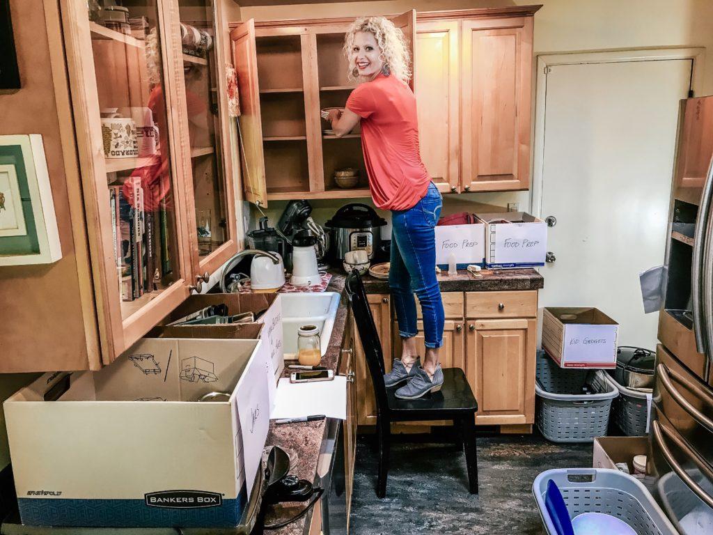 Vicki organizing cabinets