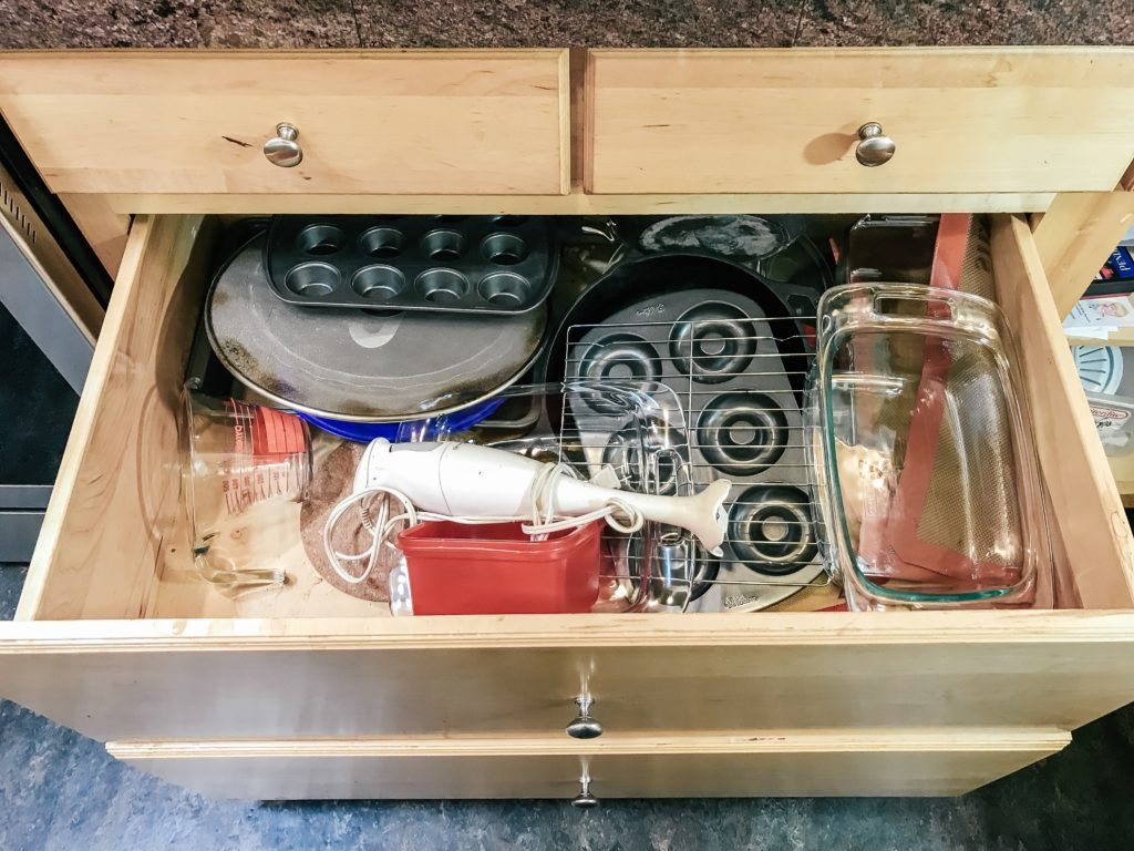 top drawer full of stuff