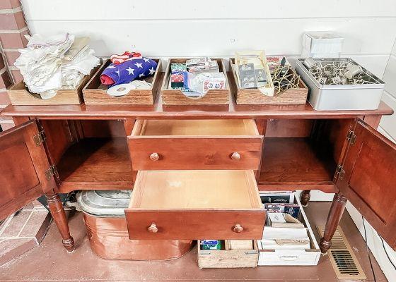 Empty storage furniture