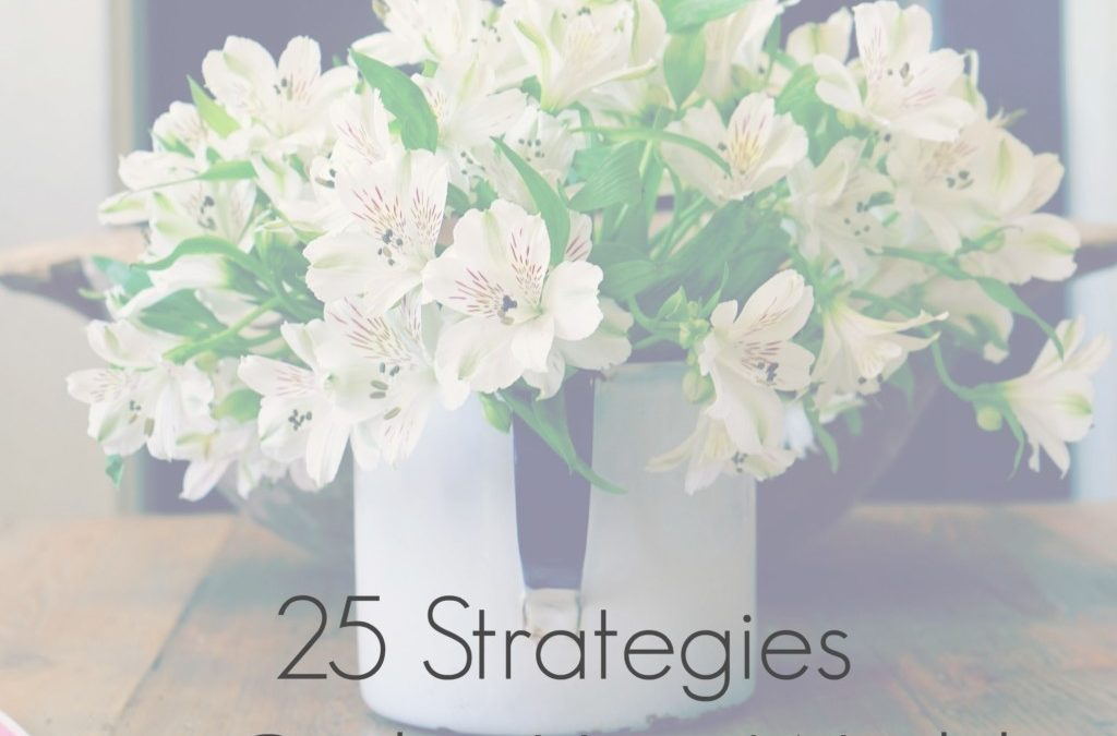 25 Strategies to Order Your World! (PDF Download)
