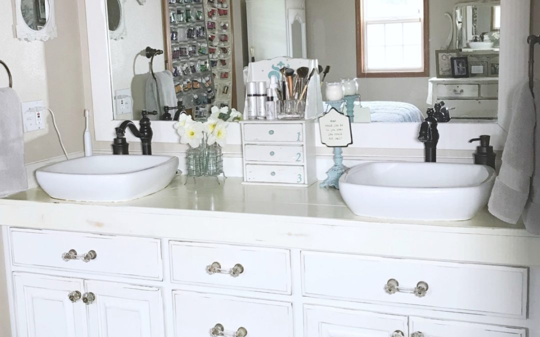 At Home with Vicki – Master Bathroom Organizing Ideas