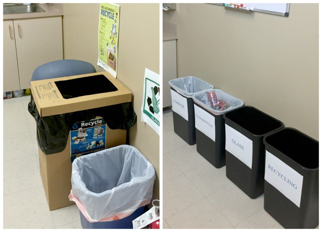 Recycling Station Before and After
