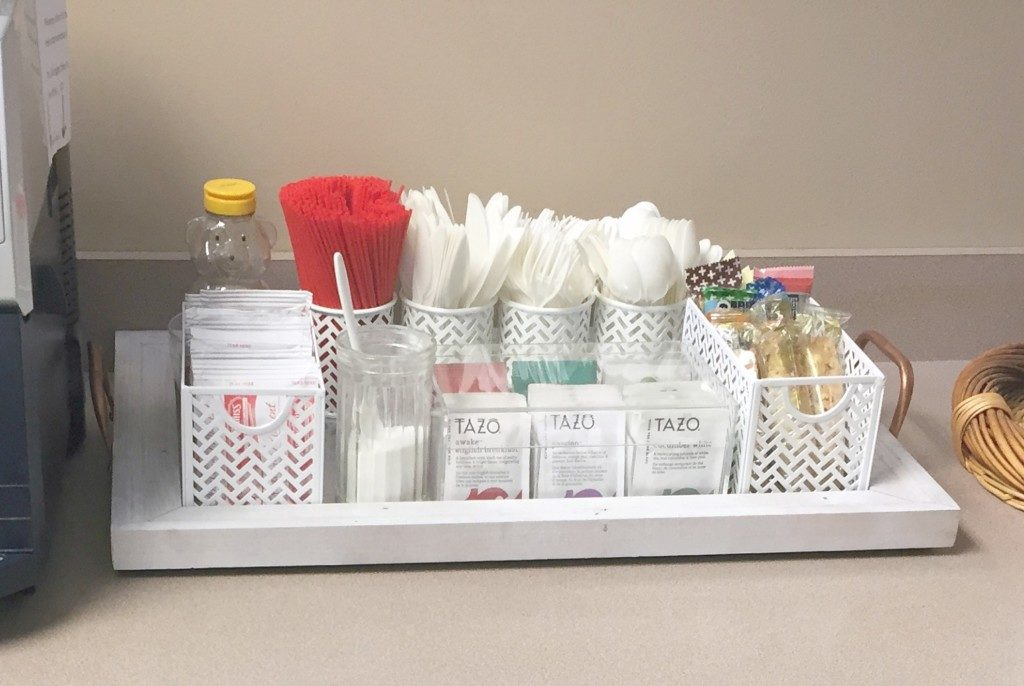 Beverage Tray with Staples Products