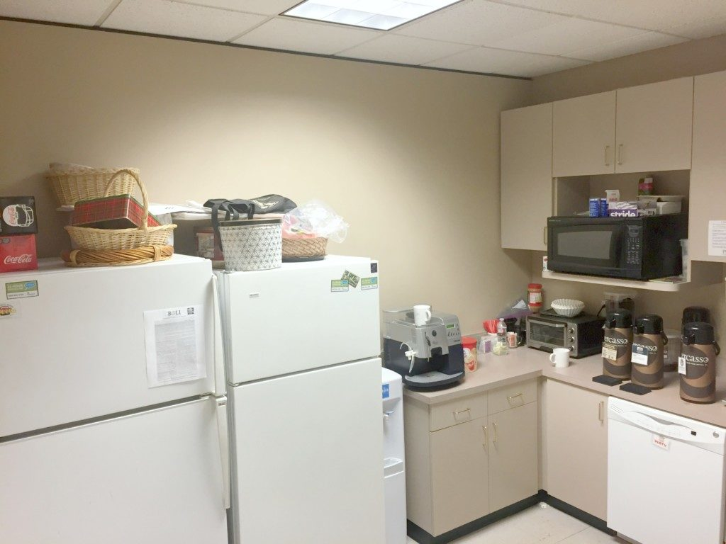Breakroom Before Makeover