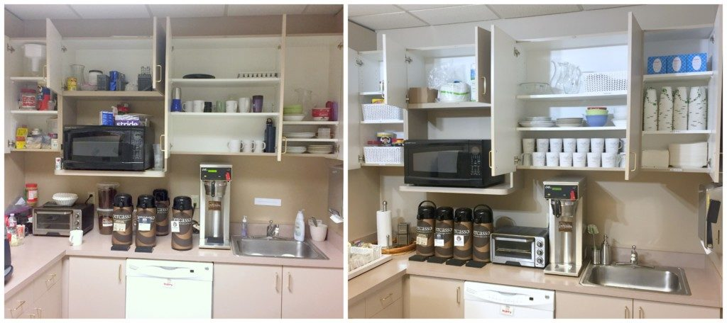 Breakroom Before and After