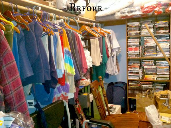Cluttered Walk In Closet