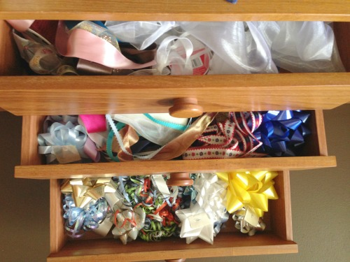 Creative Gift Wrapping Station Hacks - Dresser