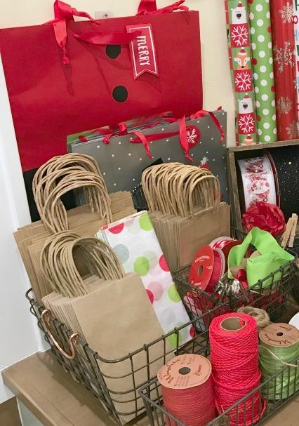 Creative Gift Wrapping Station Hacks - Gift Bag Basket