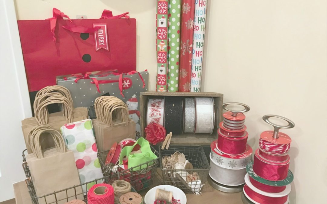 Creative Gift Wrapping Station Hacks