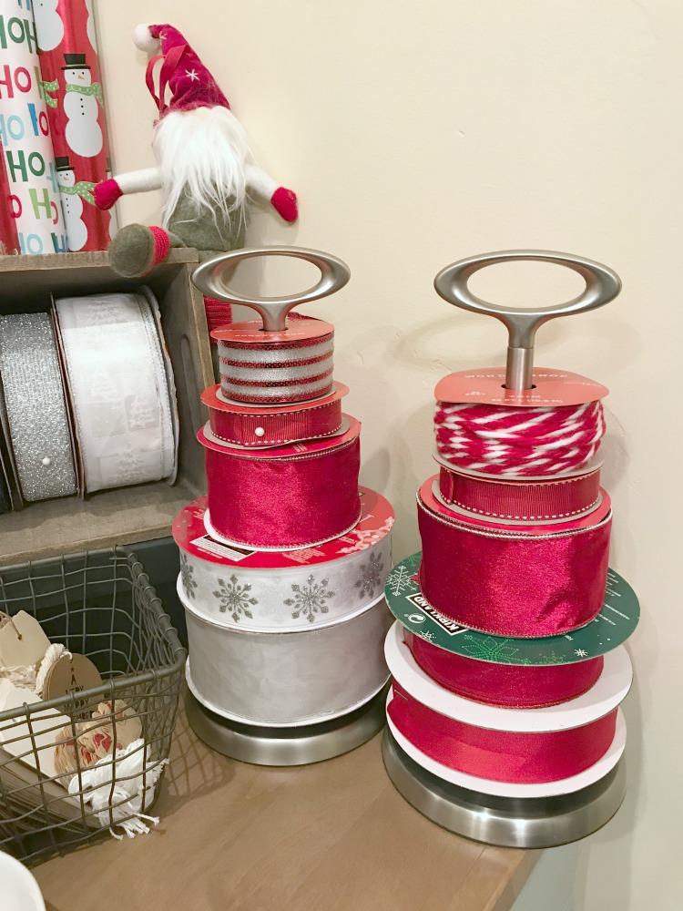 Creative Gift Wrapping Station Hacks - Ribbon Holder