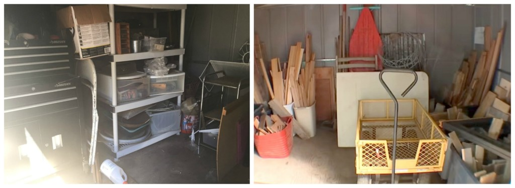 Shed Inside Before and After