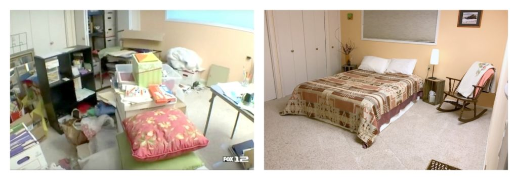 Dismantling Spare Rooms Before and After Bed