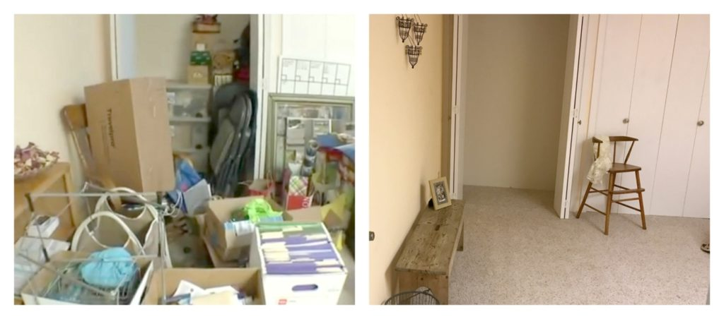Dismantling Spare Rooms Before and After Closet