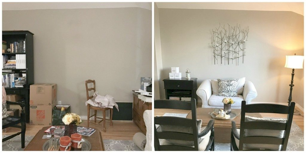 Reimagining Your Space - Living Room Focus Wall Before and After