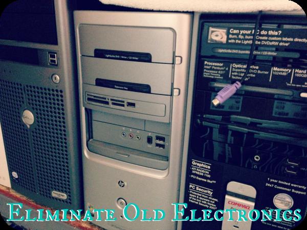Eliminate Old Electronics - 15 Energizing Summer Organizing