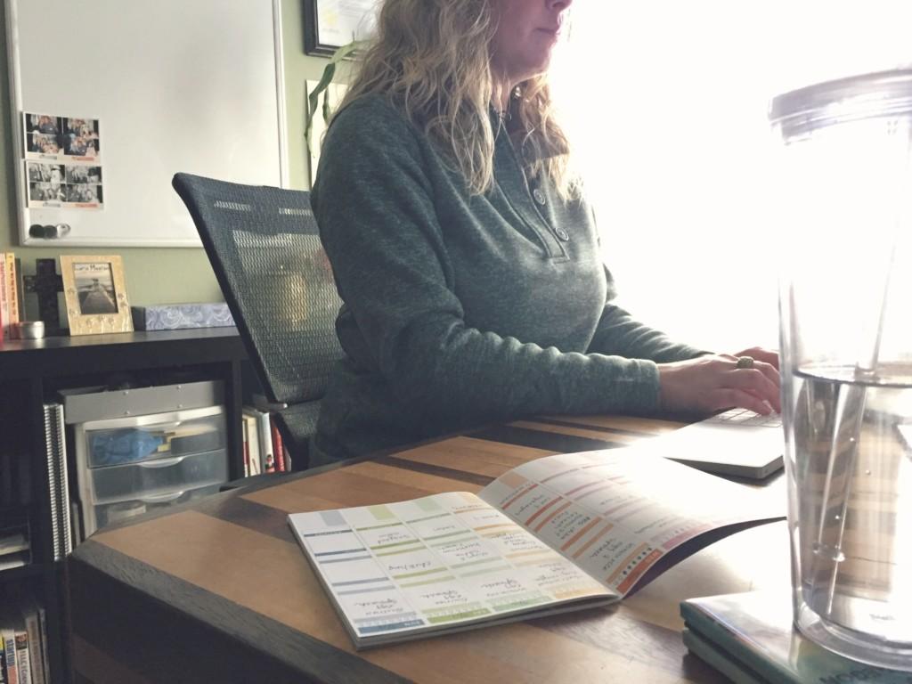 Entrepreneur working at her desk