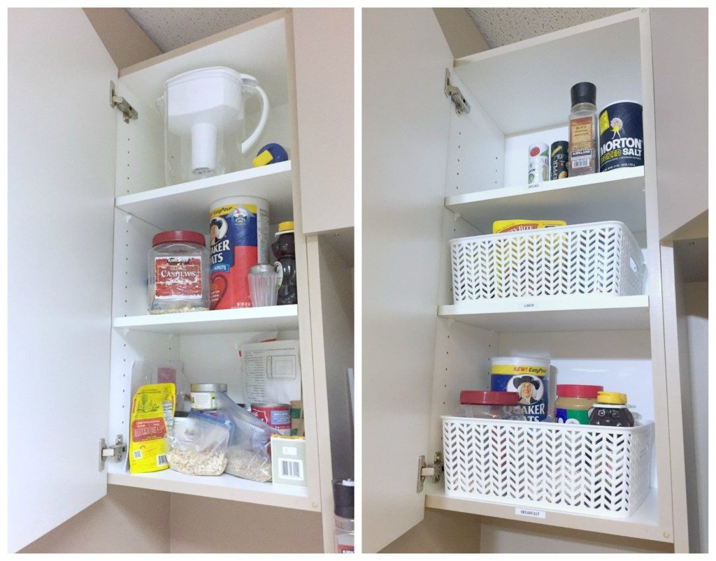 Food Storage Cabinet Before and After