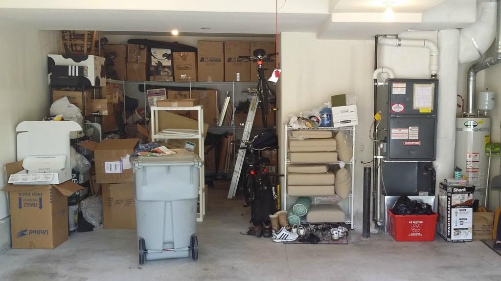 Unorganized garage