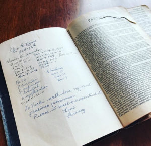 Retreat: Getting reacquainted with Granny's bible