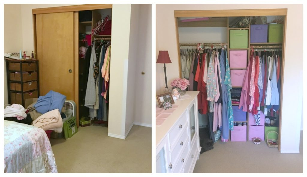 Life Transitions Closet Before and After