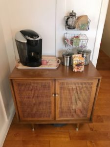 Antique Cabinet Coffee Bar