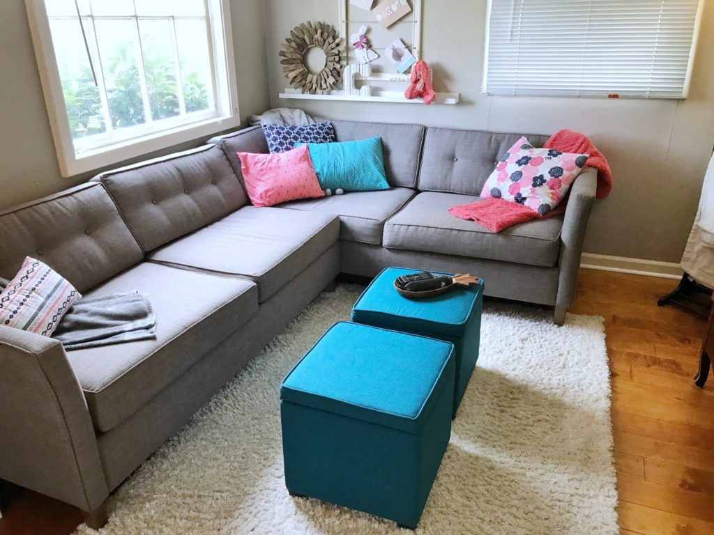Couch and Throw Pillows
