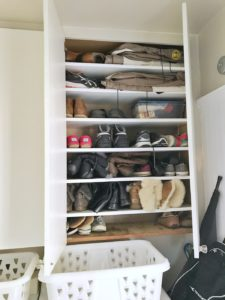 Living Large in a Small Space - Shoe Cabinet