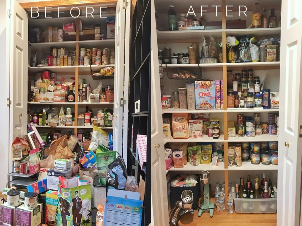 Organizing Your Kitchen and Pantry MGDO - Pantry Before & After
