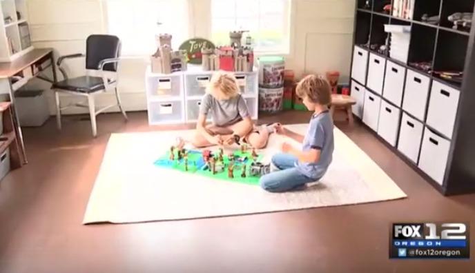 Playroom Transformation - Boys Playing