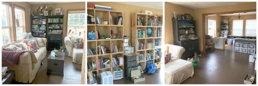 Playroom Transformation - Homeschool Area Before